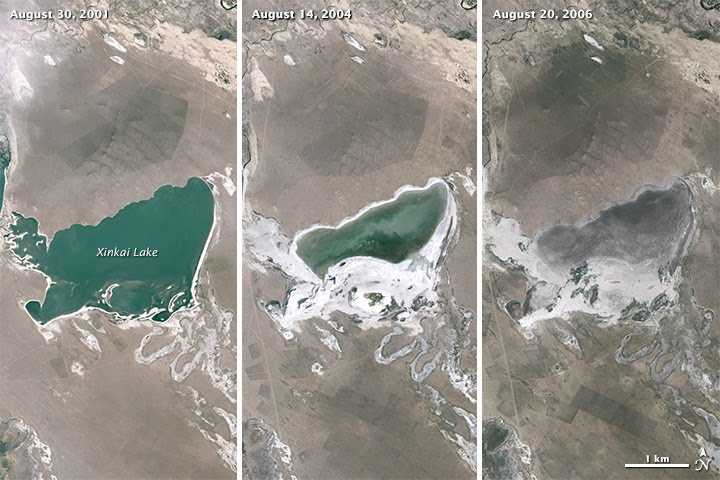 Shrinking Lakes on the Mongolian Plateau