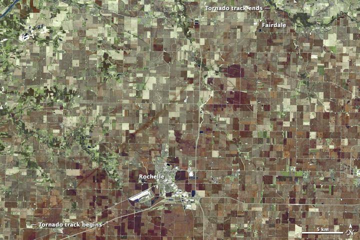 Tornado Track in Northern Illinois