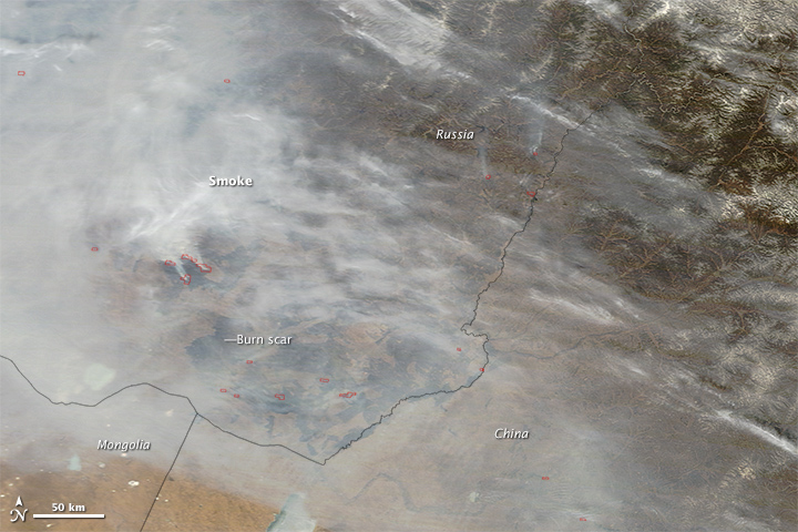 Wildfires in Southern Siberia