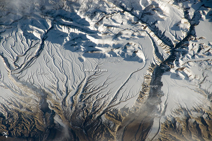 Rivers and Snow in the Himalayas
