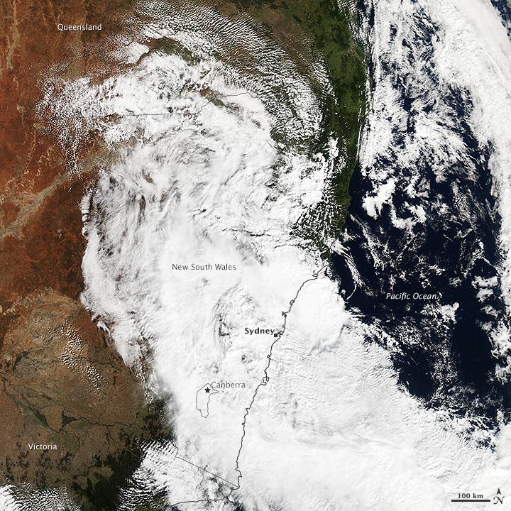 Storm Hits New South Wales, Australia