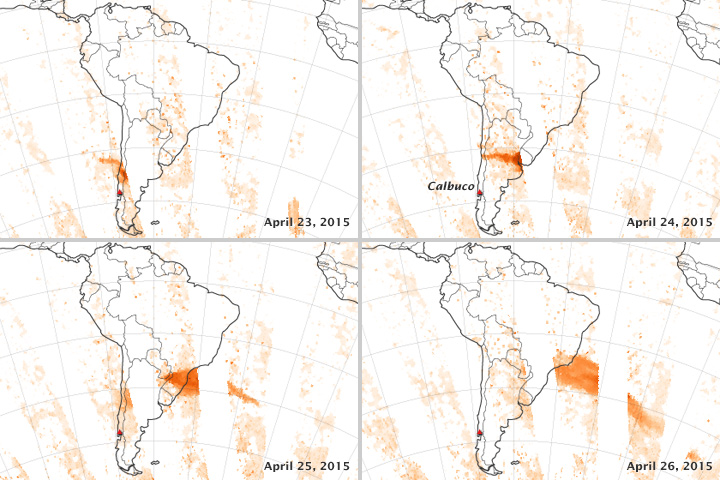 Tracking the Sulfur Dioxide from Calbuco
