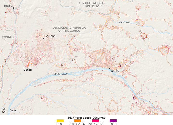 Mapping Forest Loss With Landsat Image Of The Day - World map congo river