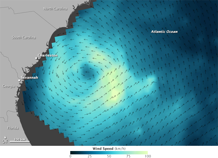 Winds of Tropical Storm Ana
