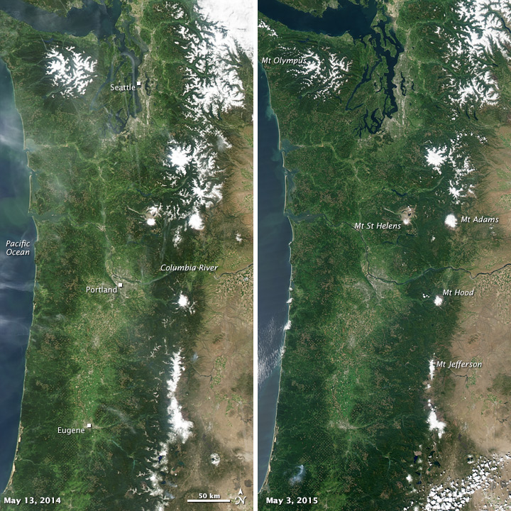 Diminished Snow Pack in the Pacific Northwest