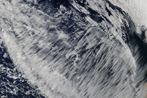 Cirrus Clouds off the Coast of Chile