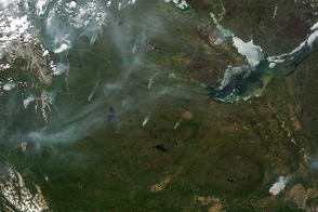 Intense Fires in Northern Canada