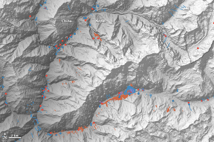 Scientist-Volunteers Map Landslides from Nepal Quakes