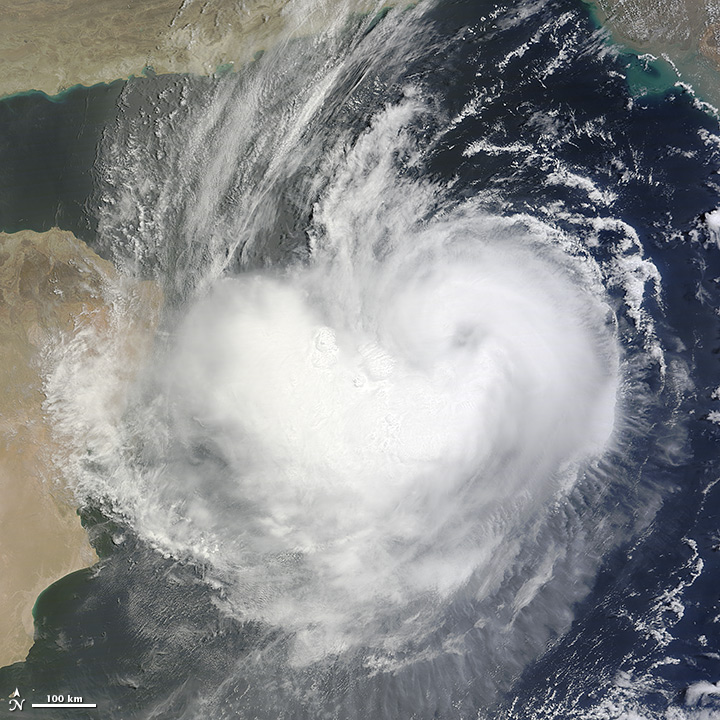 Cyclone Ashobaa over the Arabian Sea