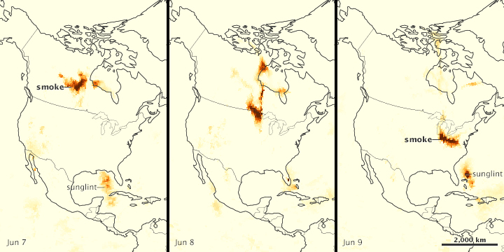 Canadian Fires Send Smoke Over the U.S. - related image preview