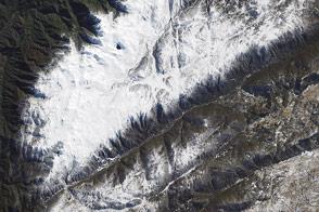 Snowfall in Australia's Snowy Mountains