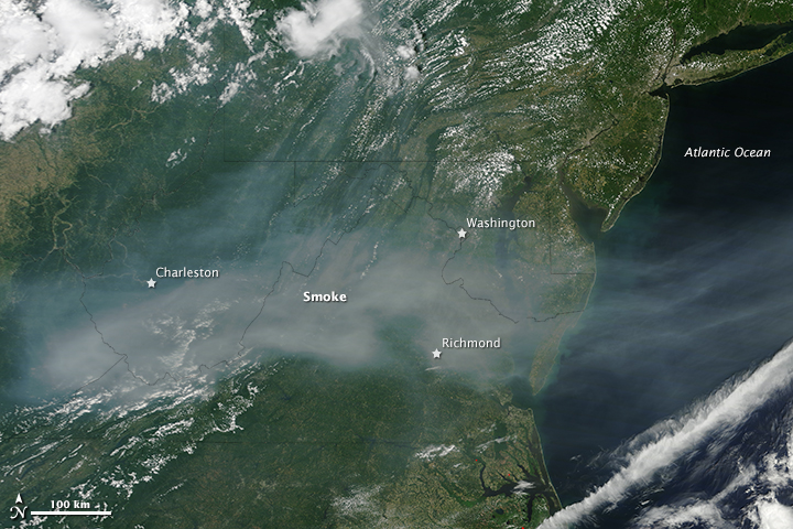 Smoke Over the Mid-Atlantic