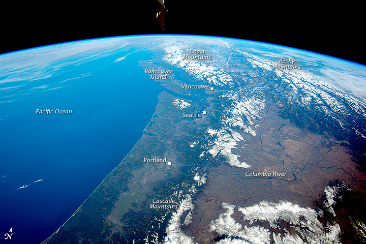 Panorama of the Pacific Northwest