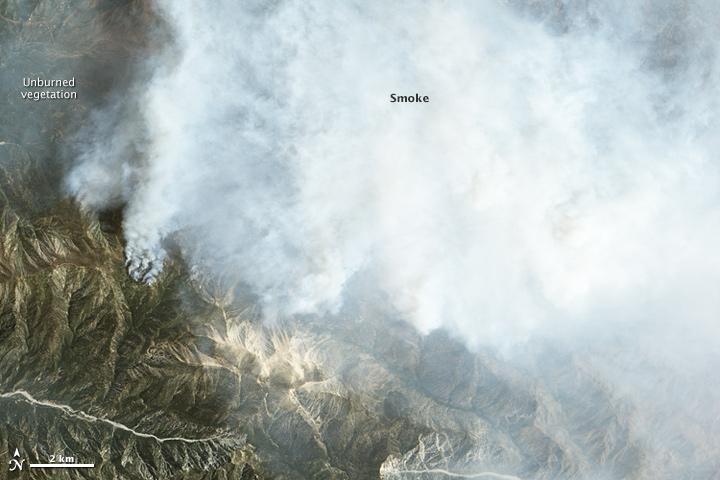 Fire and Smoke in San Bernardino National Forest
