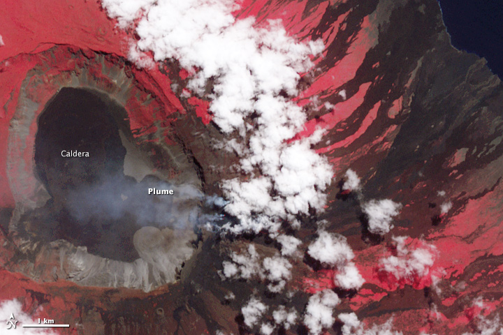 Eruption of Wolf Volcano Continues