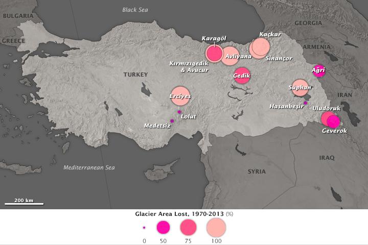 Turkish Glaciers Shrink By Half