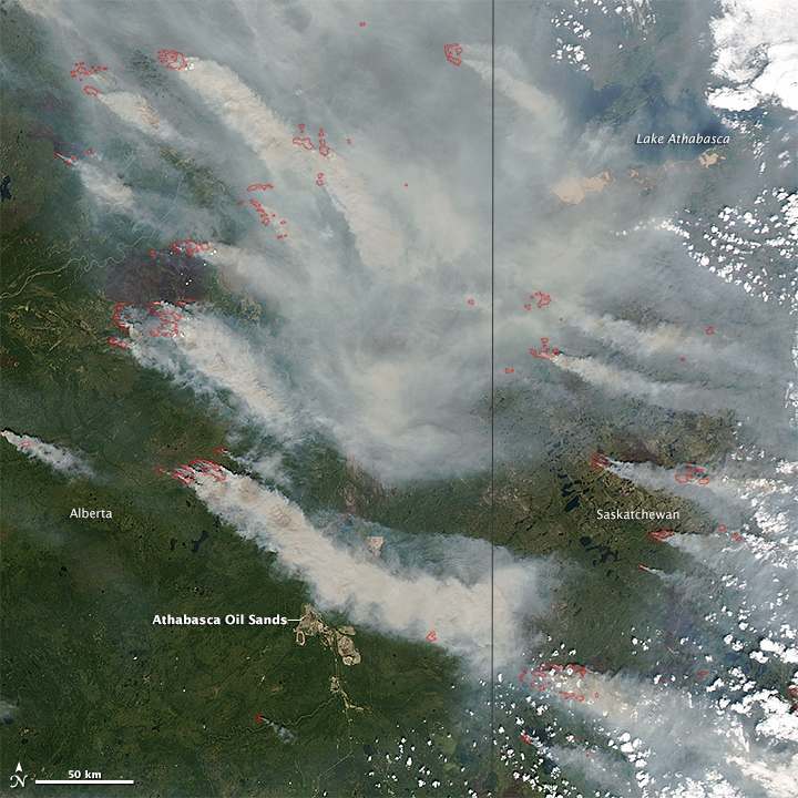 Wildfires in Alberta and Saskatchewan