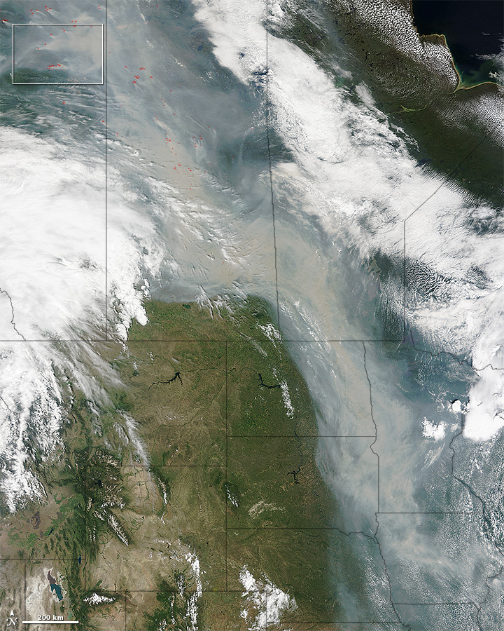 Canadian Wildfires Produce River of Smoke - related image preview