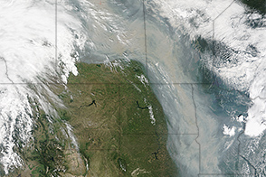 Canadian Wildfires Produce River of Smoke