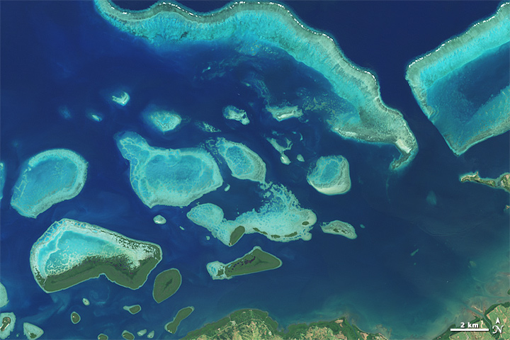 Exploring Reefs from Space