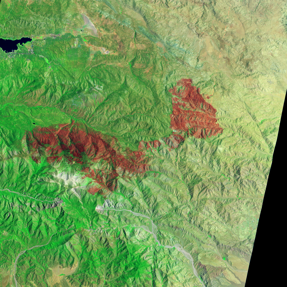 Lake Fire Burn Scar - related image preview