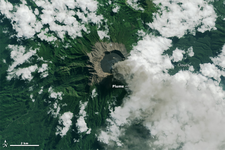 Eruption of Raung Volcano