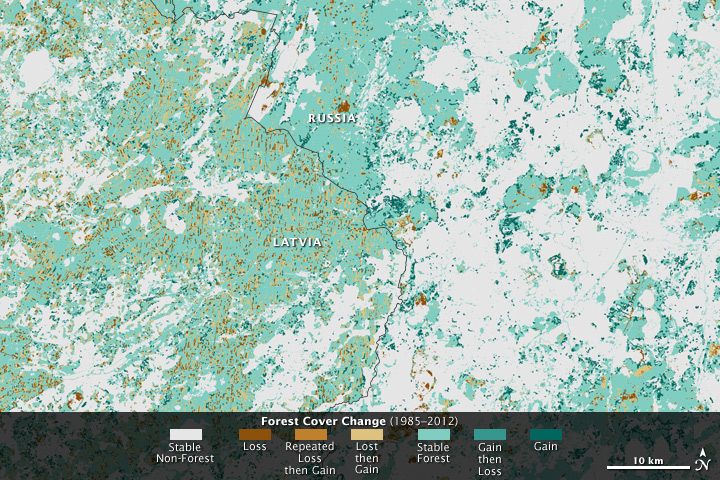 Changing Forest Cover Since the Soviet Era - related image preview