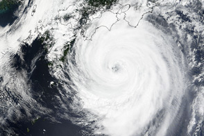 Typhoon Nangka Approaches Japan