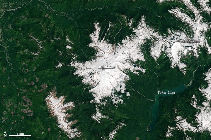 Snow Drought on Mount Baker