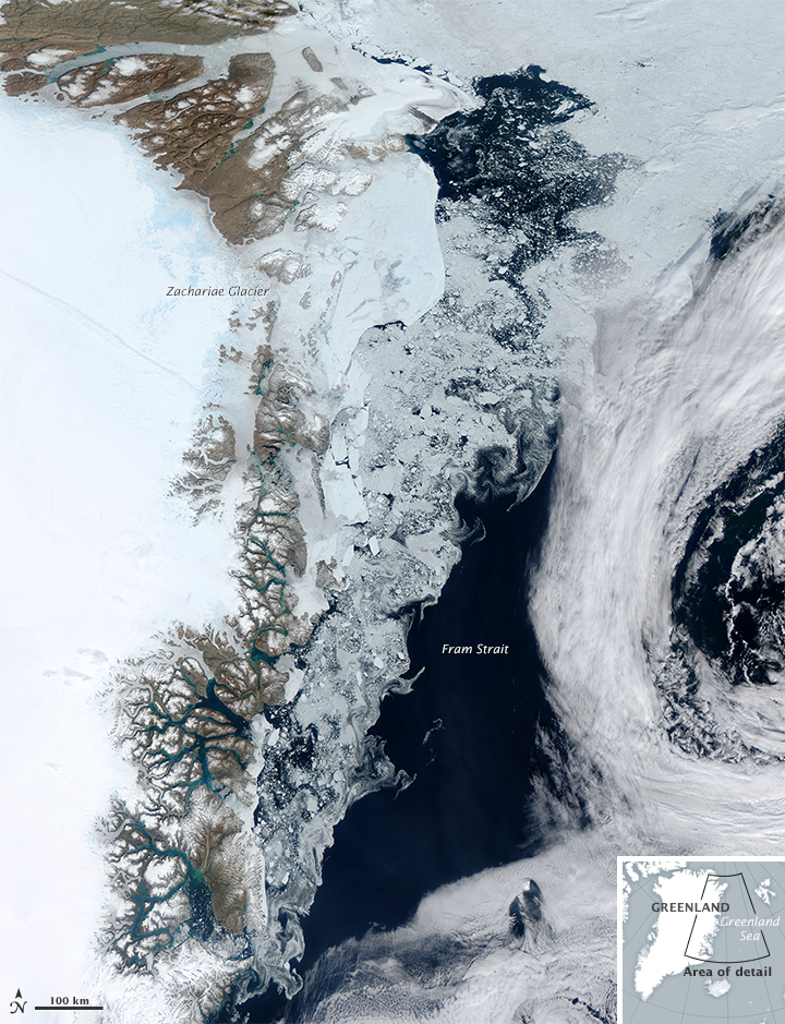 Sea Ice near Greenland