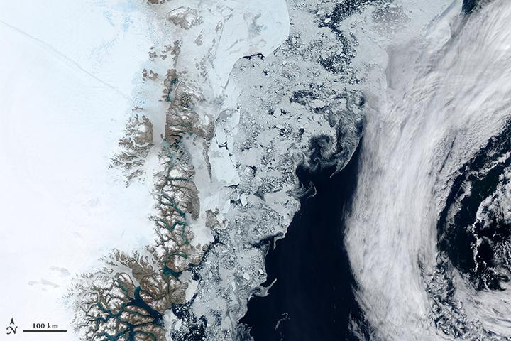Sea Ice near Greenland
