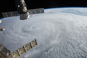 Typhoon Soudelor Seen from the ISS