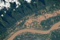 Flooding on the Mekong River Flood Plain