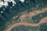Flooding on the Mekong River Flood Plain