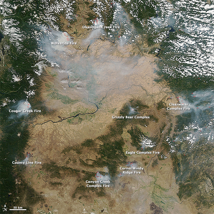 Fires In The Pacific Northwest