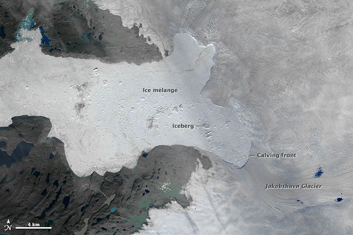 Ice Loss From Jakobshavn Glacier