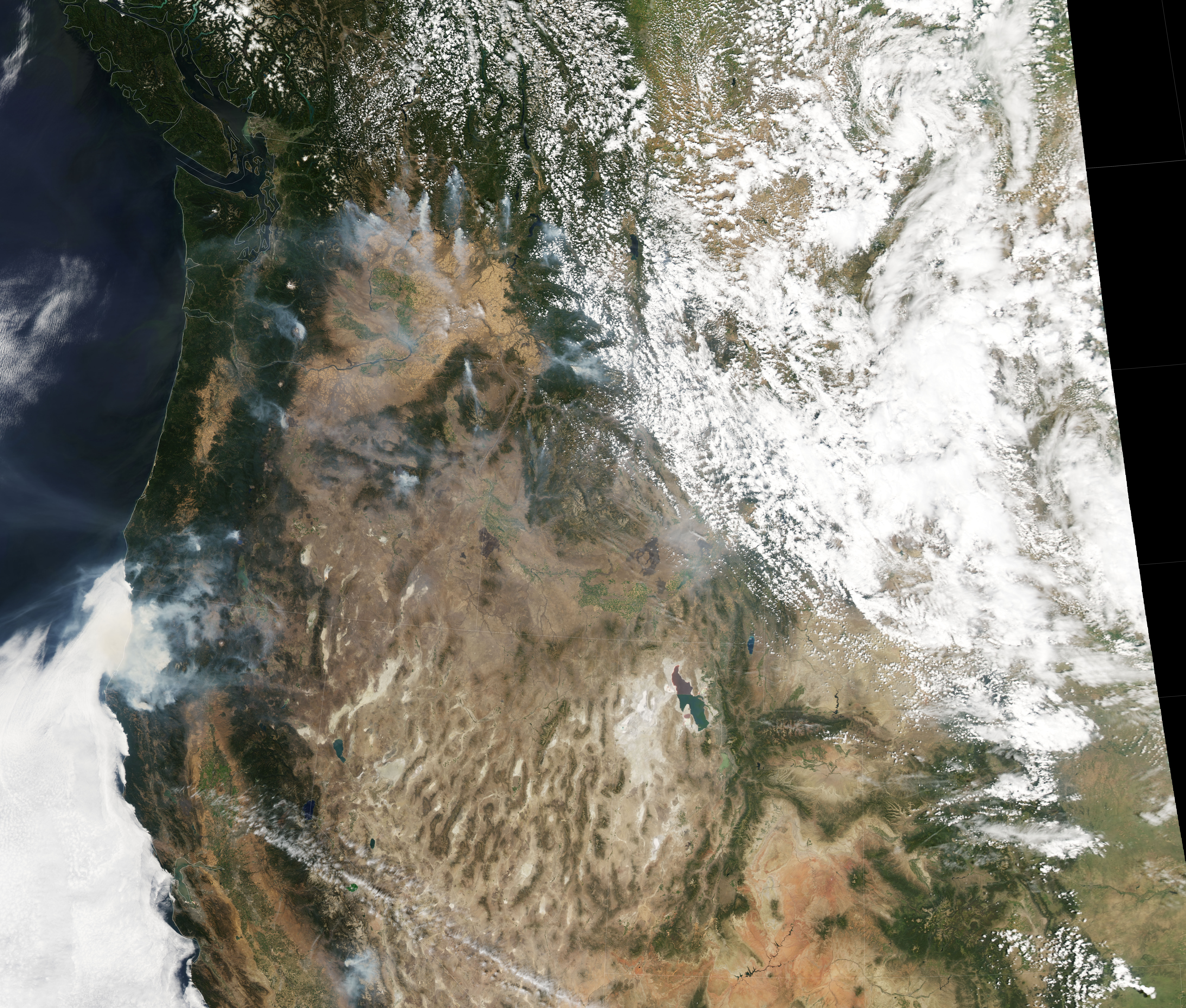Fires at Night in the U.S. Northwest  - related image preview