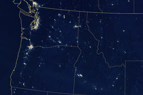 Fires at Night in the U.S. Northwest
