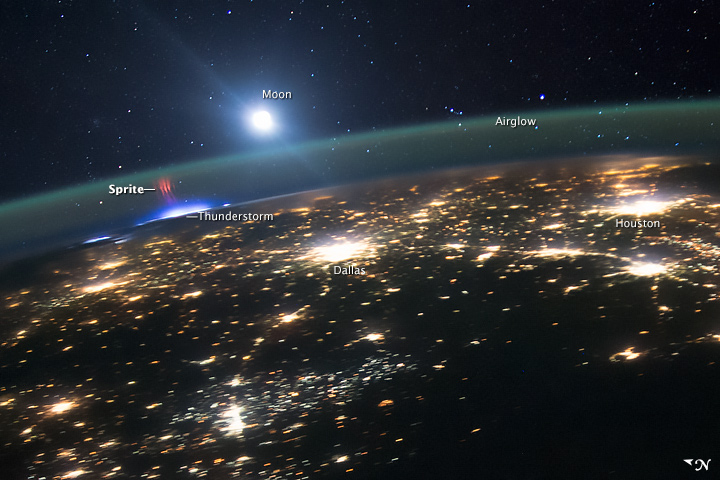 Red Sprites Above the U.S. and Central America