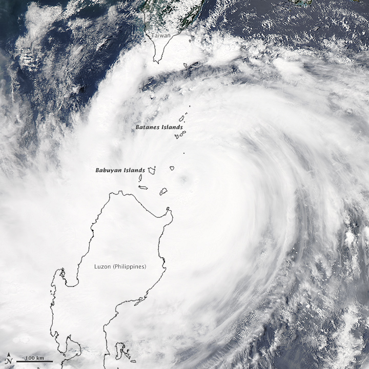 Typhoon Goni Brushes the Philippines