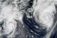 Typhoons Goni and Atsani