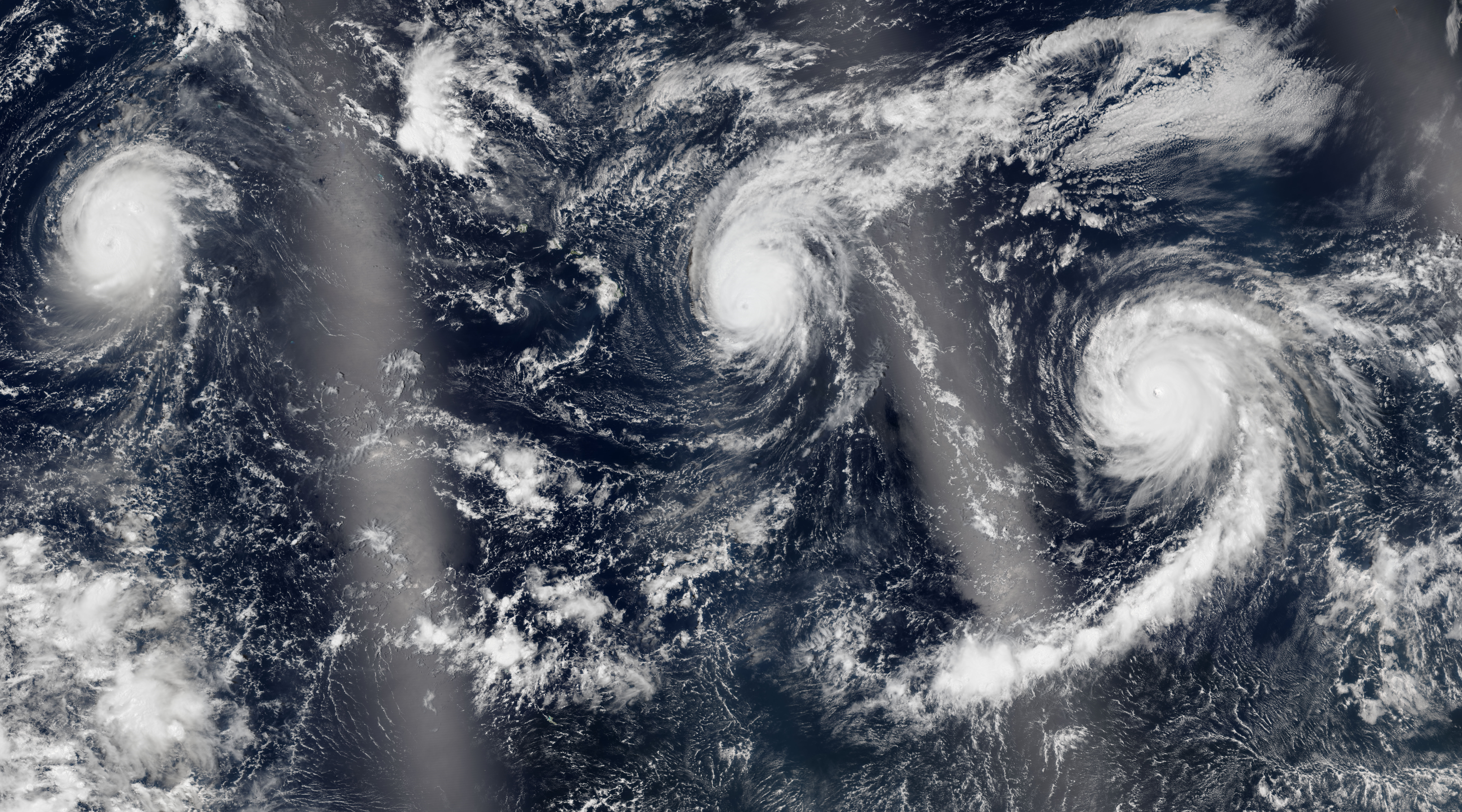 Trio of Hurricanes Over the Pacific Ocean : Image of the Day Pacific Ocean Waves