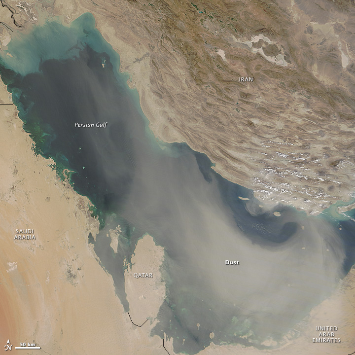 Dust Marches Across Iraq and Iran
