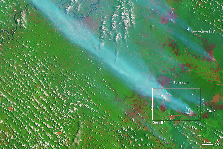 Smoke and Fires in Sumatra