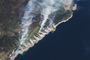 Fire and Smoke Lingers Around Lake Baikal
