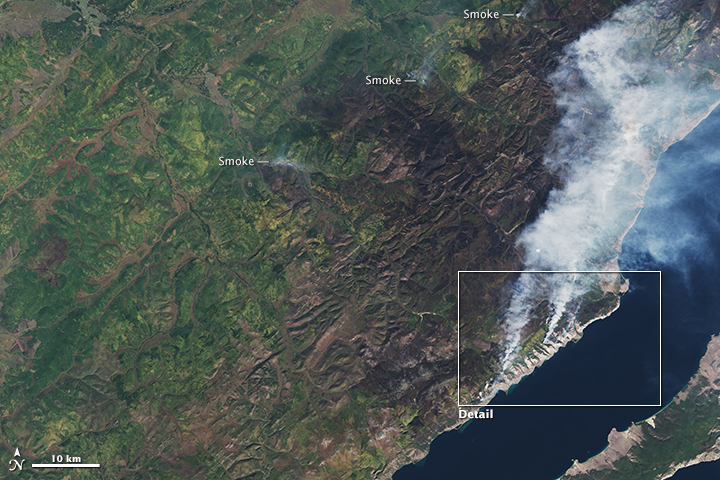 Fire and Smoke Lingers Around Lake Baikal