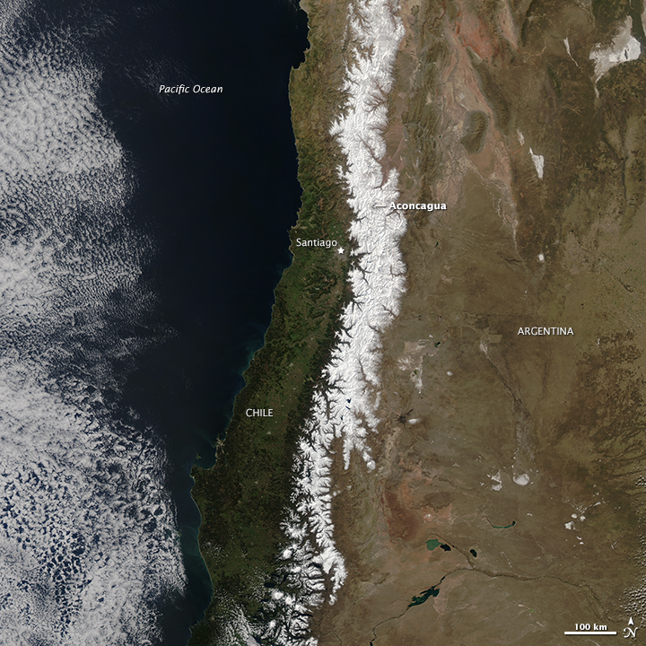 Snow in the Andes