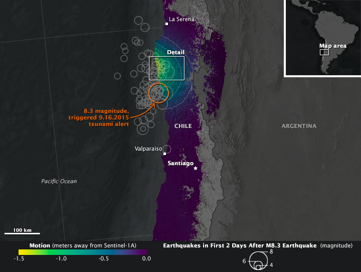 Mapping Earth Motion from the Illapel Earthquake