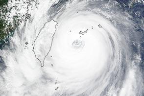 Super Typhoon Dujuan Slams Northern Taiwan