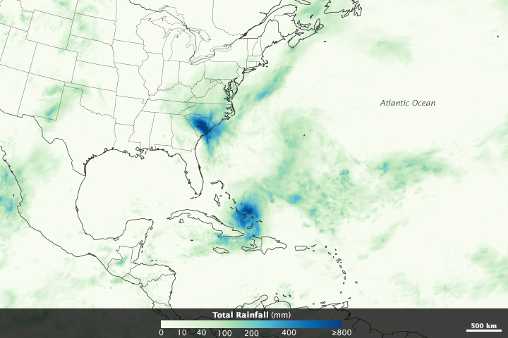 Devastating Rainfall in The Bahamas and South Carolina